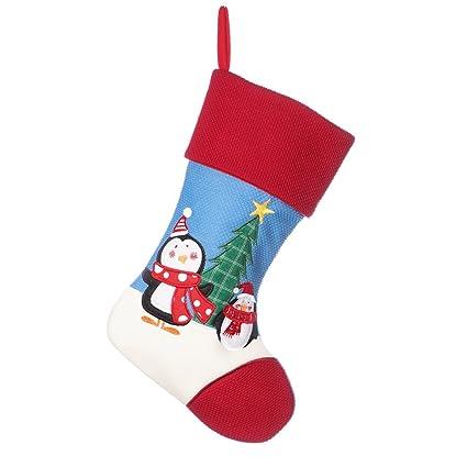Dibor - Calcetines Acolchados para Hombre, diseño de Polo Norte, pingüino, H41 x