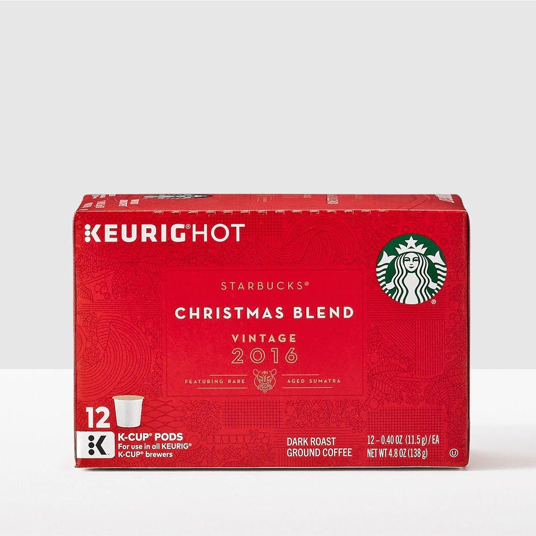 Starbucks Christmas Blend K-Cup Pods Vintage 2016 - 12 Count ...
