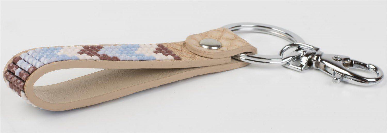 Anneau de Fixation Femme 05050019 Couleur:Beige Mousqueton styleBREAKER Porte-clefs avec Pierres Brillantes