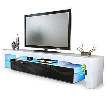Fernsehschrank weiß  Vladon TV Schrank Lowboard Fernsehschrank Fernsehtisch Wohnzimmer ...