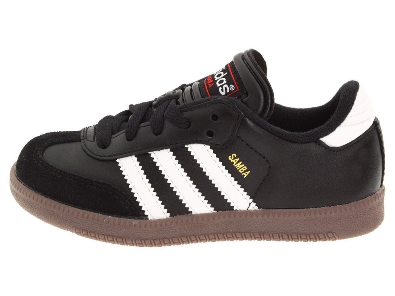adidas Kids' Samba Classic Indoor Soccer Shoes (5.5, Core Black/Running White)