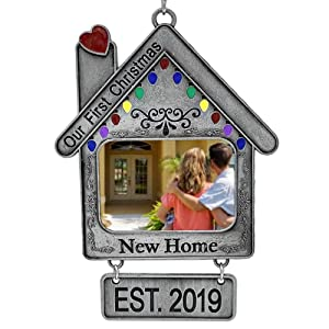 BANBERRY DESIGNS Dated Our New Home Ornament - First Christmas in Our New Home - EST. 2019