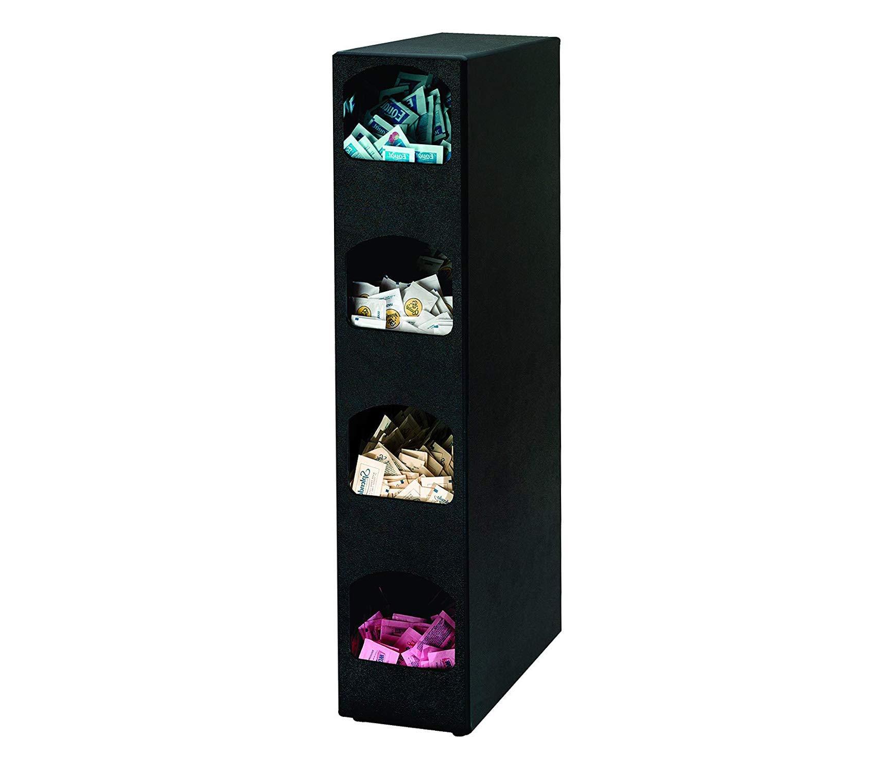 Home Décor Premium Four Compartment Countertop Vertical Condiment Organizer Storage Durable Strong Decorative