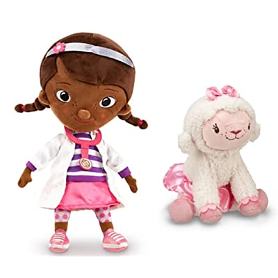 "Disney\'s Doc McStuffins 12"" & Lambie 7\"" Plush Doll Set: Toys & Games [5Bkhe0502846]"