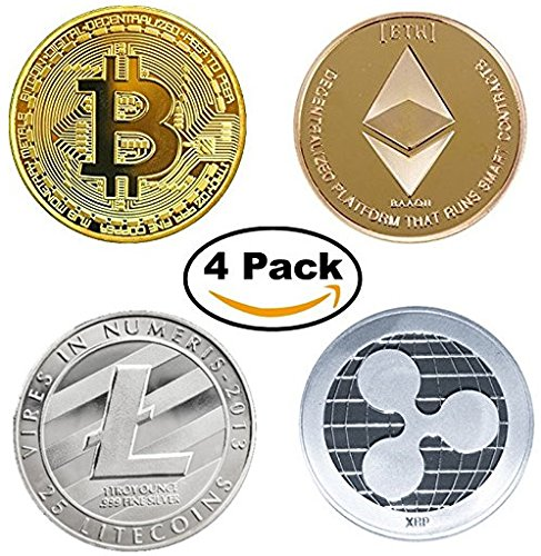 Cryptocurrency Hodls Gift Set   Bitcoin  Btc  Ethereum  Eth  Litecoin  Ltc  Ripple  Xrp  Gold   Silver Coins  Four Pack