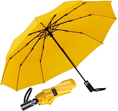 Newdora Paraguas Plegable Automático Impermeable 10 Armazones de ...