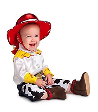 912434a003b68 Amazon.com  Disney Store Deluxe Jessie Costume for Baby Toddlers Toy Story  (3T or 3 Years)  Clothing