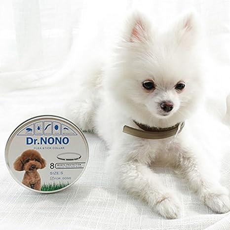 Collares Antiparasitario para Perros y Gatos, 6 Meses de Protección Contra Pulgas y Control de