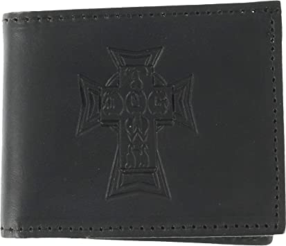 Dogtown Skateboards Bifold Black Leather Wallet