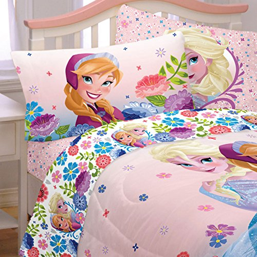 Frozen Anna And Elsa Bedding Set Spring Flowers Full Size