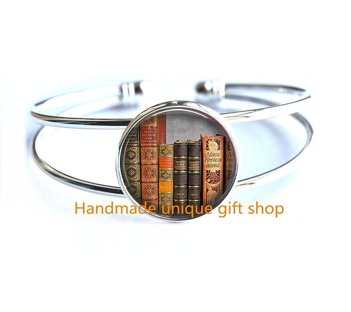 Book Bracelet Book Bracelet Book Lover Gift-RC166 Mini Library Bracelet Fashion Bracelet,Library Bracelet Literary Gift