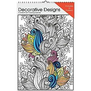 2017 Decorative Designs Coloring Calendar