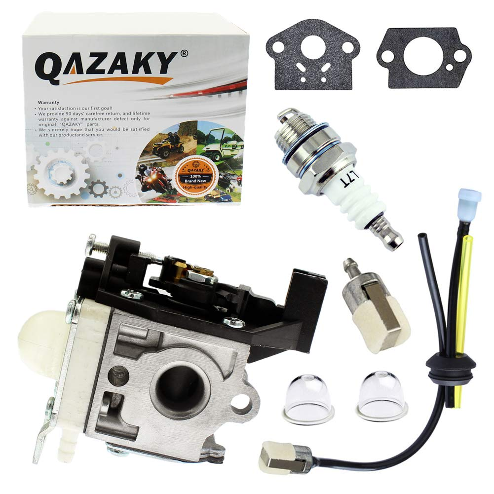 QAZAKY Carburetor with Fuel Filter Maintenance Kit Spark Plug for Zama RB-K92 RB-K92A Echo Shindaiwa HCR-161ES HRC-171ES HC152 DH232 DH235 HT232 Hedge Trimmer A021001671 A021001672 A021001673 Carb