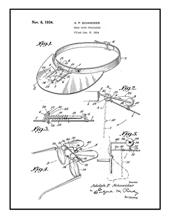 amazon head down persuader patent print black ink on white with Tent Poles head down persuader patent print black ink on white with border 16 quot x