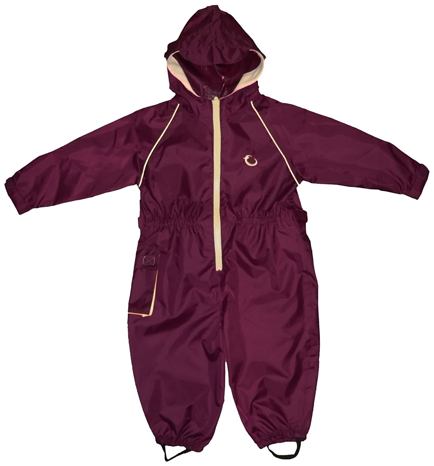 Hippychick Waterproof All-in-One Suit - Burgundy/Sand, 12-18 Months HWNBS12-18