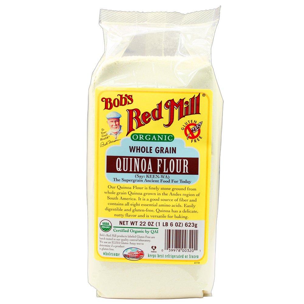 Bob's Red Mill Whole Grain Organic Quinoa Flour, 22 Ounce (Pack of 4)
