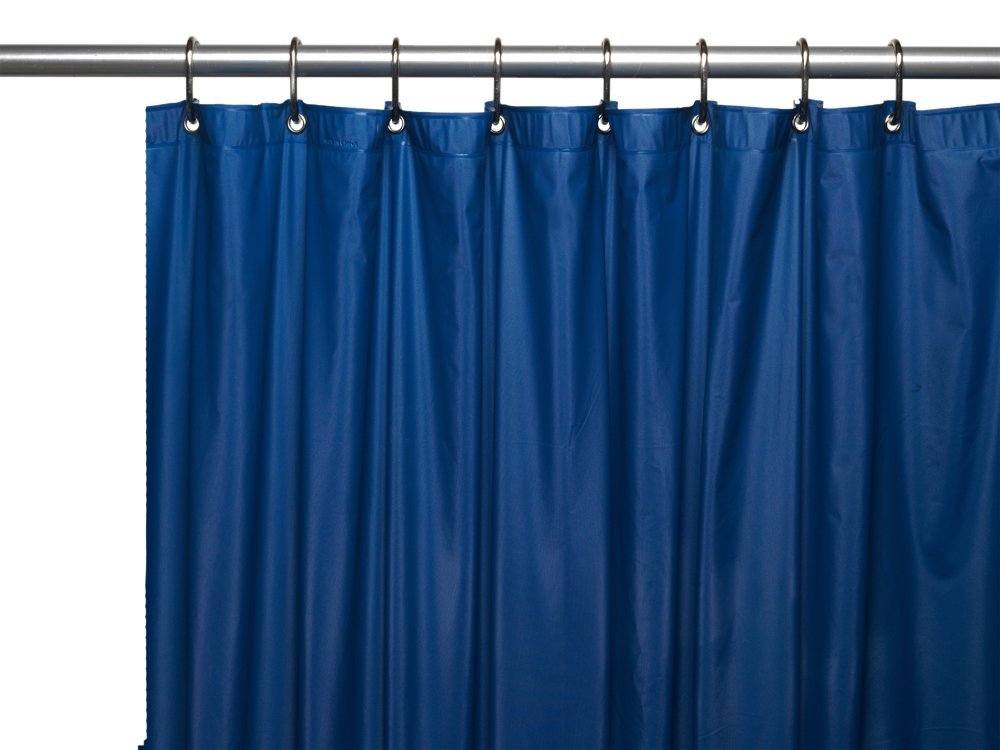Weston Royal Blue Fabric Shower Curtain Curtain Menzilperde Net