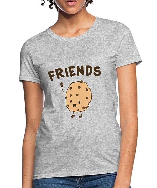 1b040c5aa Spreadshirt Best Friends Cookies & Milk Friendship Women's T-Shirt, S (Size  4