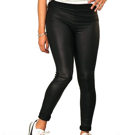 Coffee Bean Leggings De Mujer Pantalón Formal De Vestir Negro Elegante Moda 2019 Frente Brillante