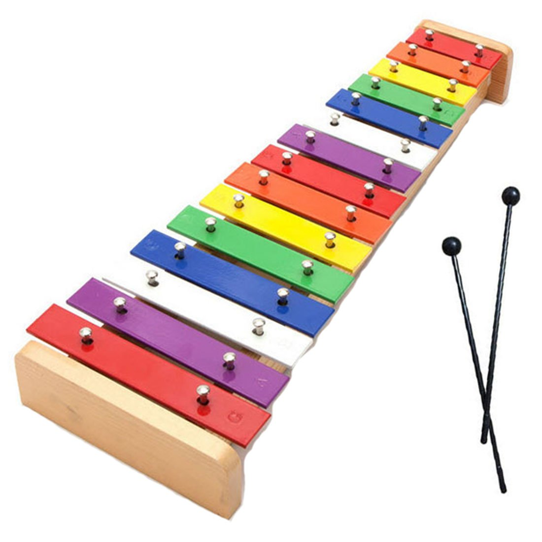 Dreams-Mall Wooden Xylophone Glockenspiel Musical Toy with 15 Tones for 3 Years Old and Above Baby Kids