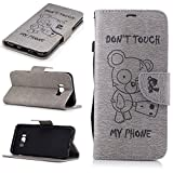 Galaxy S8 Plus Leather Case,IKASEFU Retro Vintage Cute Bear Quote Pu Leather Magnetic Book Style Strap Wallet Flip Protective Case Cover with Card Slots for Samsung Galaxy S8 Plus