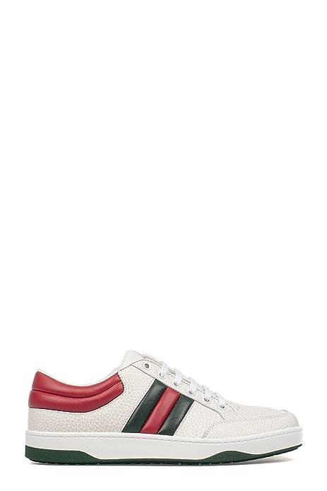 Gucci Hombre 407330DEF309083 Blanco Cuero Zapatillas: Amazon.es: Zapatos y complementos