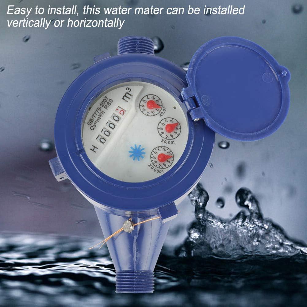 Compteur eau froide en plastique DN15/compteur deau froide pour utilisation domestique en jardin