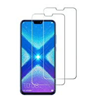 Widamin 2Pack, Honor View 10 Lite/Huawei Honor 8X Vetro temperato, Pellicola in Vetro, Garanzia a Vita, [durezza 9H], [Alta Definizione], [No-Bubble] Screen Protector per Huawei Honor View 10 Lite