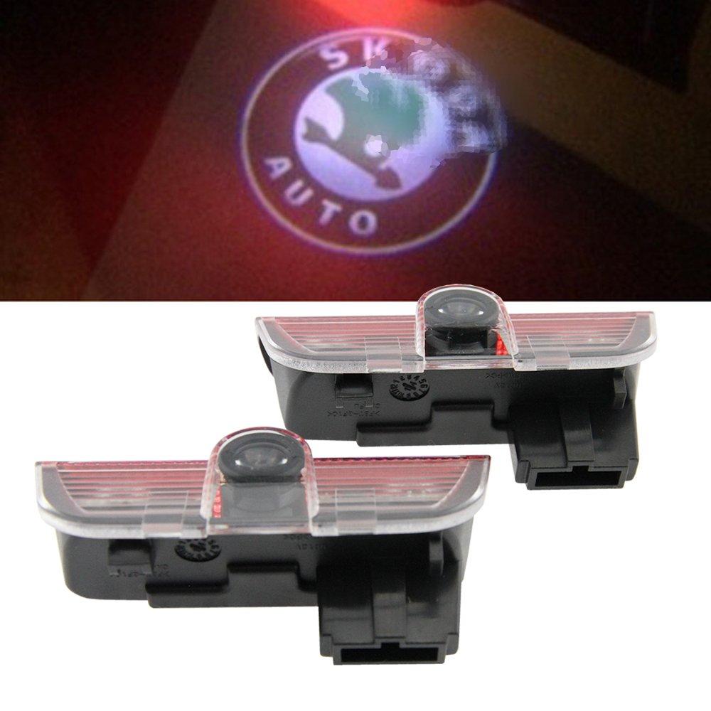 Plaque lumineuse LED Newsun pour porte de voiture - Projecteur de bienvenue - Logo - Pour obscurité