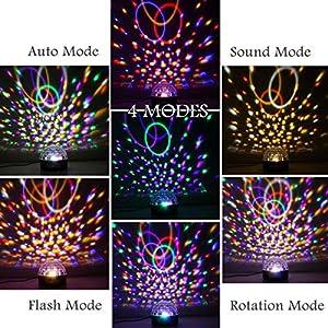 61y%2BBElwK3L. SS300  - GUSODOR-Discokugel-LED-Lichteffekte-Bluetooth-MP3-Musik-Player-RGB-Sprachaktiviertes-Kristall-Magic-Ball-Bhnentechnik-fr-Show-Disco-KTV-Stab-Stadium-Club-Hochzeit-Geburtstag
