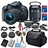 Canon EOS Rebel T5i 18.0 MP CMOS Digital Camera HD Video with EF-S 18-55mm f/3.5-5.6 IS STM Zoom Lens Bundle with Accessories (14-Items)