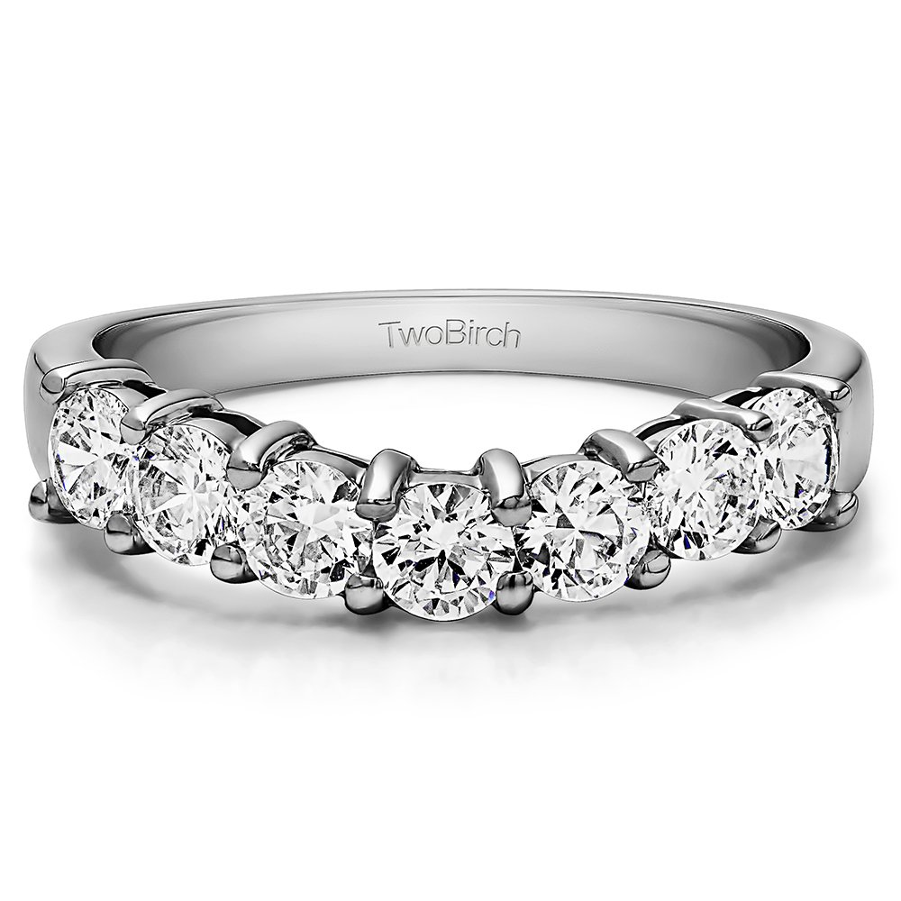 Cubic Zirconia Classic Style Wedding Ring In Sterling Silver(0.5Ct) Size 3 To 15 in 1/4 Size Interval