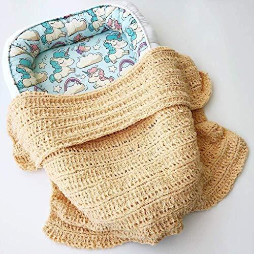(Hand Knit Baby Blanket, Baby Boy Blanket, Knitted Baby Girl Blanket, Hand Knitted Afghan, Baby Shower Gift, Crib Blanket, Baby Throw Blanket)