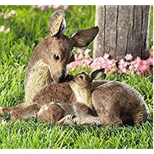 Deer-Doe-and-Fawn-Lying-Outdoor-Garden-Statue