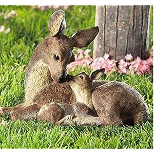 Deer-Doe-and-Fawn-Lying-Outdoor-Garden-Statue