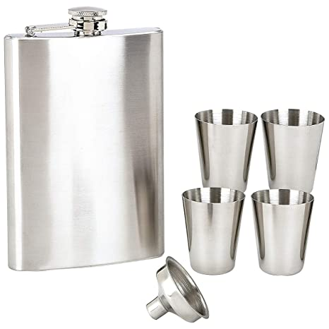 Amazon.com: Maxam 6pc acero inoxidable Flask Set Acero ...