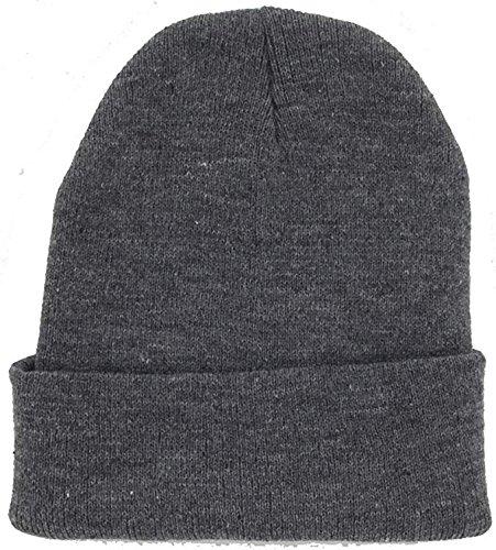 DealStock Plain Knit Cap Cold Winter Cuff Beanie
