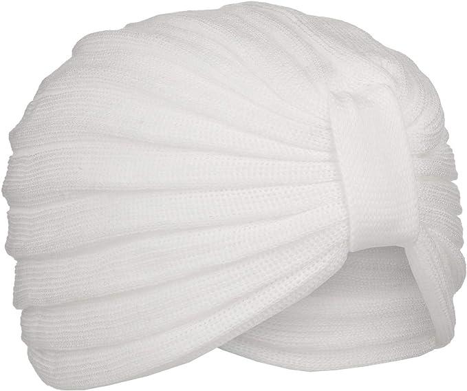 McBURN Turbante de Algodón Kalisa Mujer - Gorro Tela pañuelos para ...