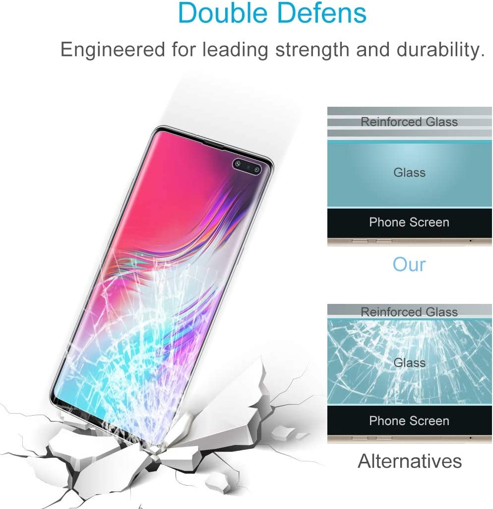 JIANGNIUS Screen Protector 50 PCS Non-Full PET Soft Screen Protector for Galaxy S10 5G