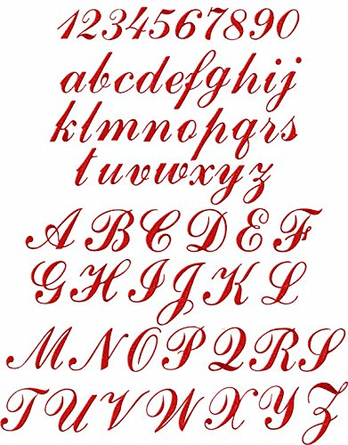 Alphabet Machine Embroidery Designs (ThreaDelight ABC Machine Embroidery Designs Set - Script Embroidery Designs 26 Upper-Case Letters, 10 Numerals and 26 Lower-Case Letters 4x4 Hoop - CD)