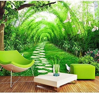 Wongxl Paredes De Papel Tapiz De Jardín 3D Pintura De Pared De Dormitorio Verde Espacio Extendido Pinturas De Fondo Fresco Natural Bosque De Bambú 3D Papel Pintado Wallpaper Mural Fresco 150cmX100cm: Amazon.es: