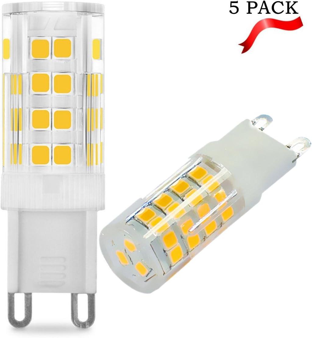 E-JIAEN G9 - Bombilla LED (ángulo de haz de 360°, 220 – 240 V, 5 unidades), blanco cálido, 7W (Replace 60W Incendescent Bulbs): Amazon.es: Iluminación