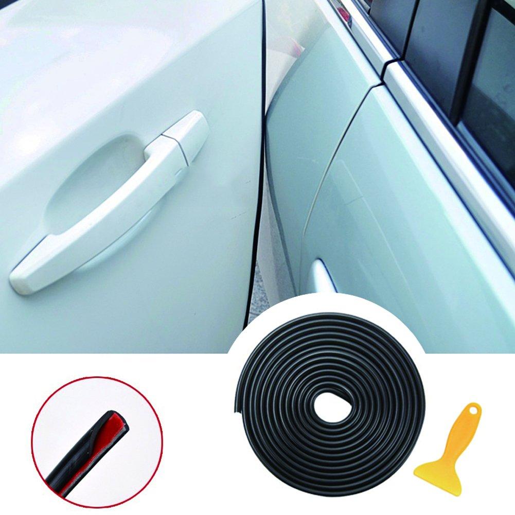 YY-LC 5M Guarnizione Porta Auto Gomma Striscia Bordo Protettore Striscia Paracolpi, Protezione per il bordo della porta/Fodera protettiva/Modanatura del bordo, Adatto alla maggior parte delle auto