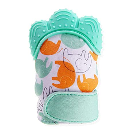Orange Silicone Baby Teething Glove Mitten for Sore Gums,Cutting Teeth /& Soothing Pain
