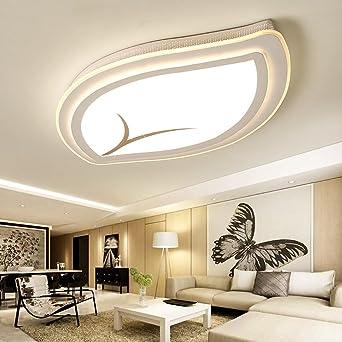 Warmweißes Licht LED Deckenleuchte, Ultra Dünnen Design, Blattform  Deckenleuchten, Stilvolle Dekoration