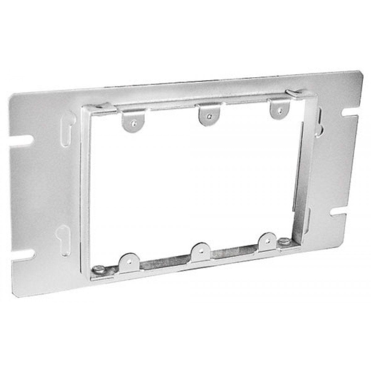 1 Pc, Zinc Plated Steel Three Gang Multi-Gang Box Cover, Cover, 1/2 In. Raised to Mount Multiple Devices