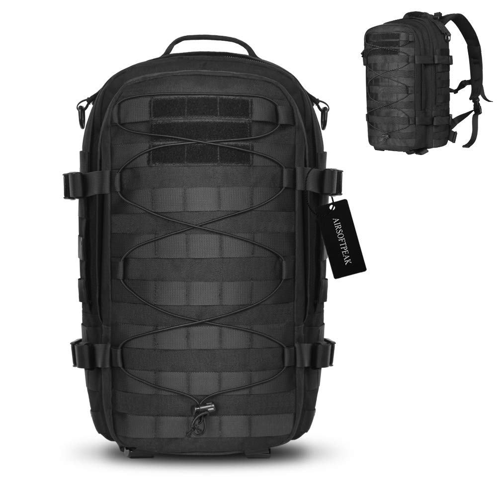 AIRSOFTPEAK Tactical Backpack Military Assault Pack Army Molle Bug Out Bag 1000D Nylon Daypack for Camping Hiking Travel by AIRSOFTPEAK (Image #1)