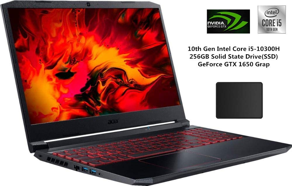 "Acer Nitro 15.6"" FHD IPS Gaming Laptop Bundle Woov Mouse Pad 