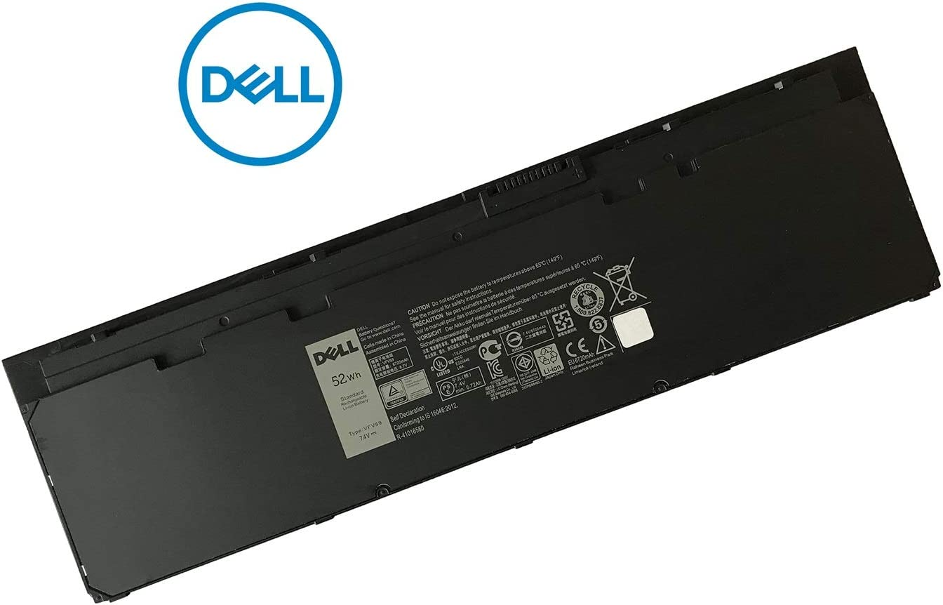 DELL VFV59 52WH 4-Cell Battery for Dell Latitude E7250 E7240 Laptops P/N: VFV59 WD52H KWFFN J31N7 451-BBFW 451-BBFX GD076 GVD76 HJ8KP NCVF0
