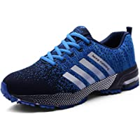 meet bfcb5 bc674 Mens Womens Trainers Outdoor Walking Running Shoes Lace-up Non-Slip Athletic  Gym Sport